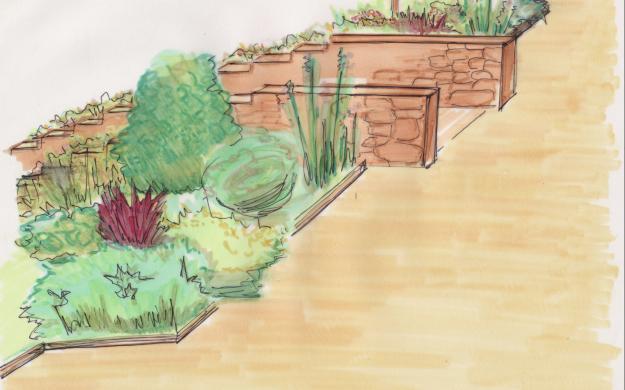 Garden Design Sketches Acrossland