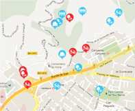 Detecting problems neighborhood through mapping on line